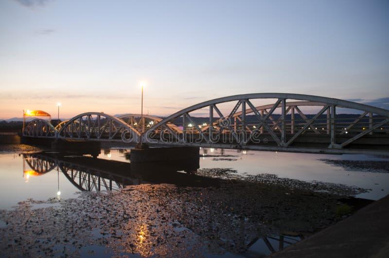 Ponte de Jiu - por do sol fotos de stock royalty free