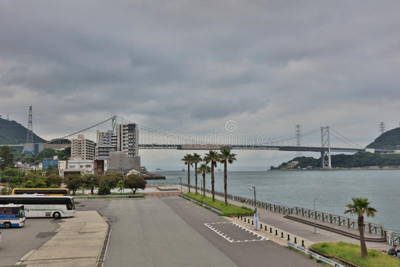 Ponte de Kanmon e passo de Kanmon imagem de stock royalty free