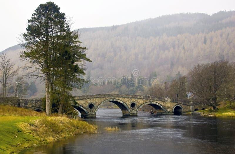 Ponte de Kenmore na névoa fotos de stock