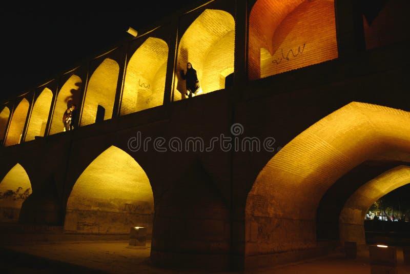 Ponte de Khajoo, Irã foto de stock royalty free