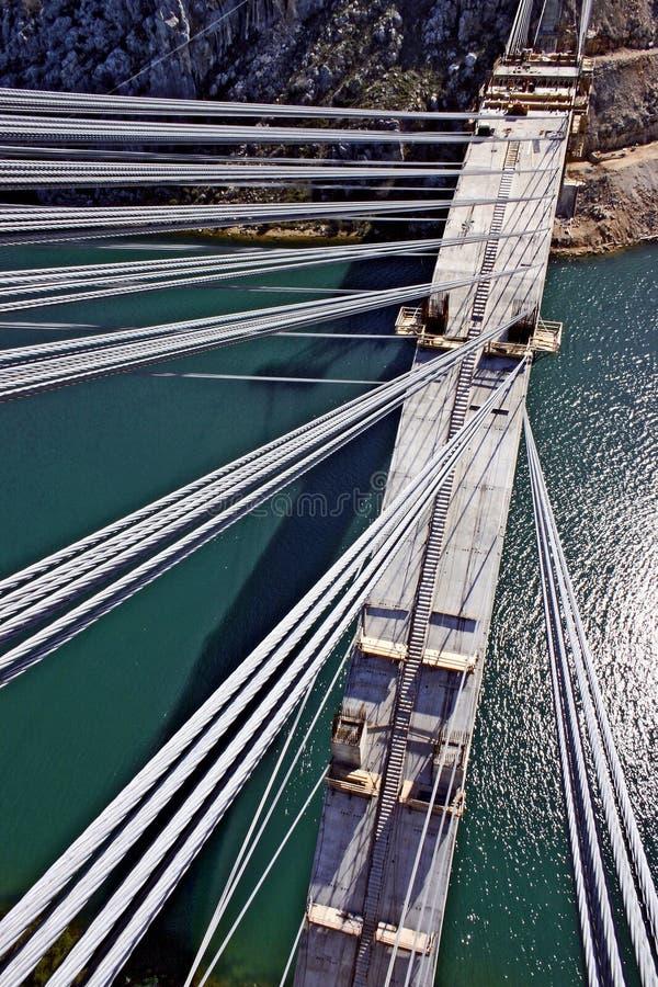 Construção da ponte concreta do arco foto de stock royalty free