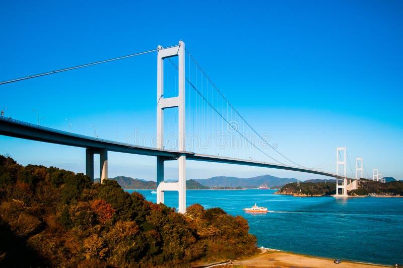 Ponte de Kurushima Kaikyo - Ehime - Japão foto de stock