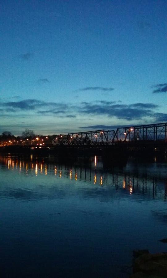 Ponte de Lambertville fotografia de stock