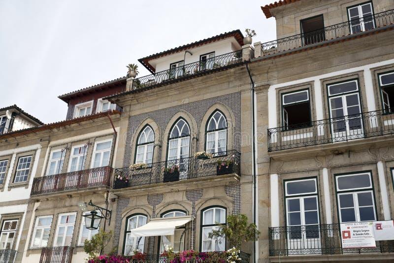 Ponte de Lima †'balkony i Windows obrazy royalty free