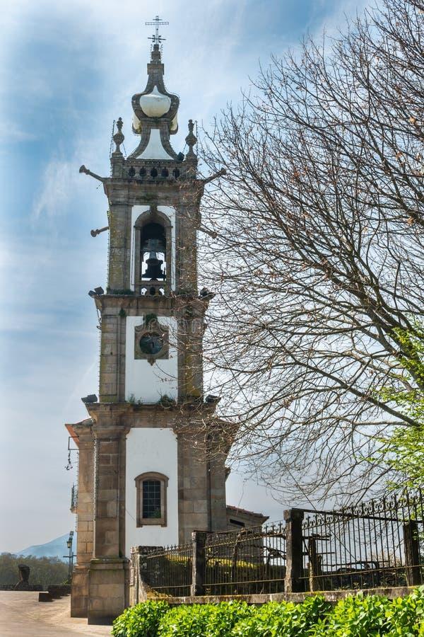 PONTE DE LIMA, PORTUGAL - CIRCA ABRIL DE 2018: La iglesia de Santo fotografía de archivo