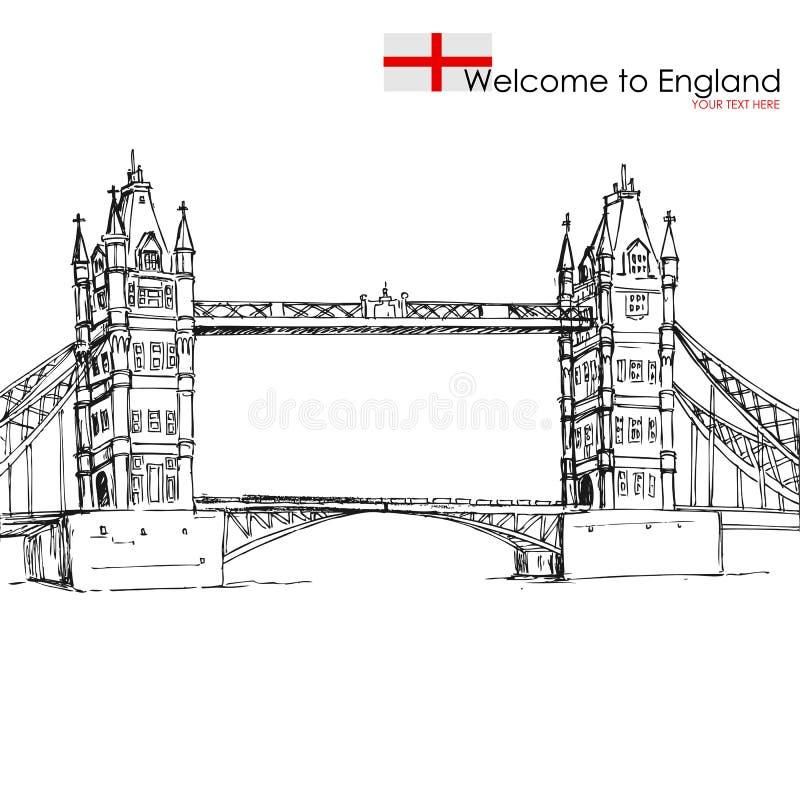 Ponte de Londres ilustração stock