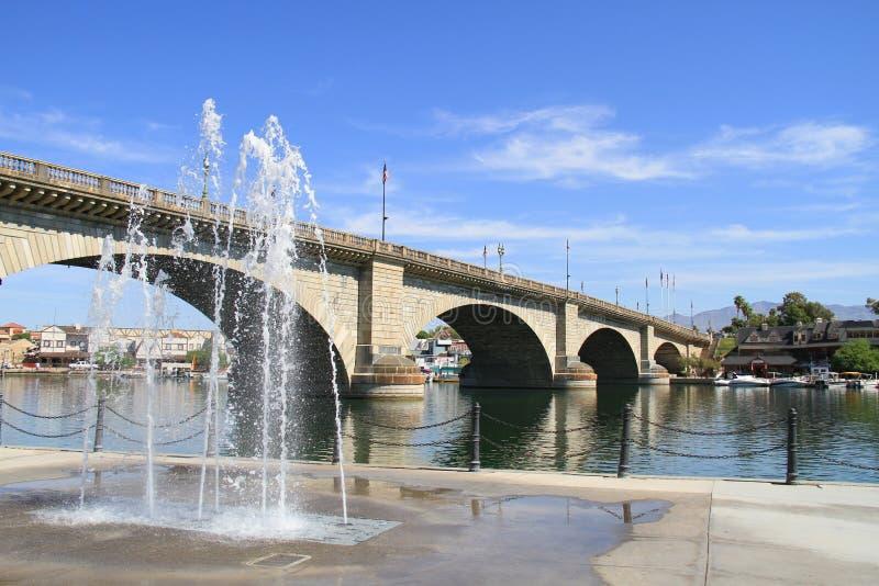 Ponte de Londres, Lake Havasu, AZ imagens de stock