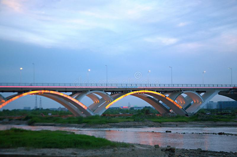 Ponte de Luoyang imagens de stock