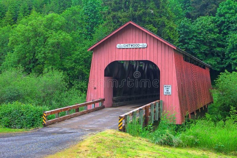 Ponte de madeira de Chitwood fotografia de stock royalty free
