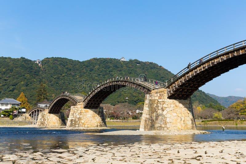 Ponte de madeira de Kintai fotografia de stock royalty free