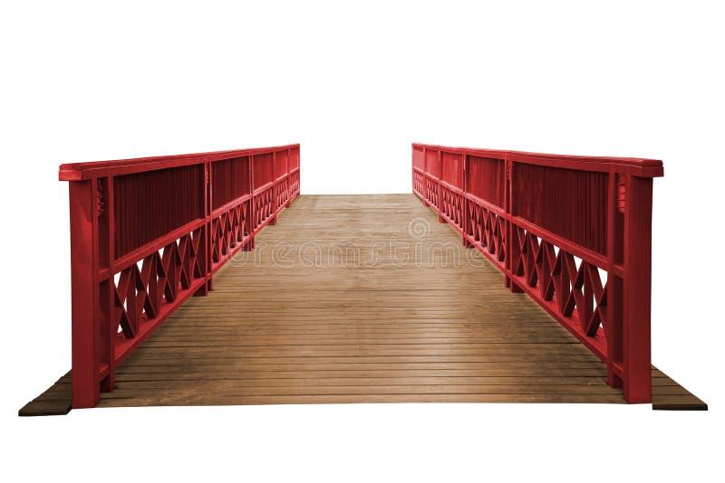 Ponte de madeira velha isolada fotografia de stock royalty free