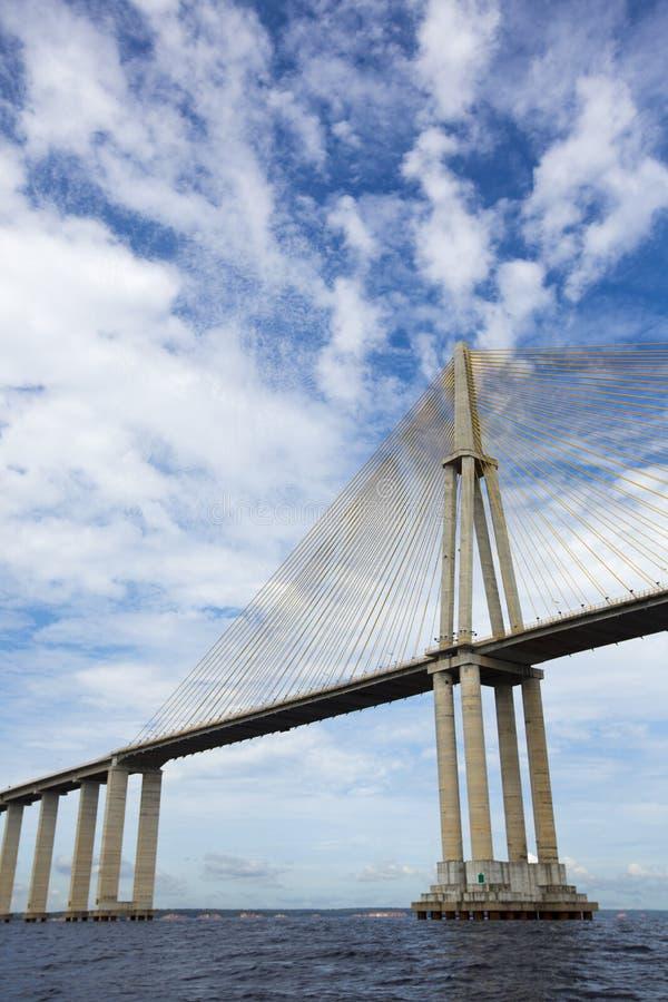 A ponte de Manaus Iranduba sobre o Rio Amazonas, Brasil fotografia de stock royalty free