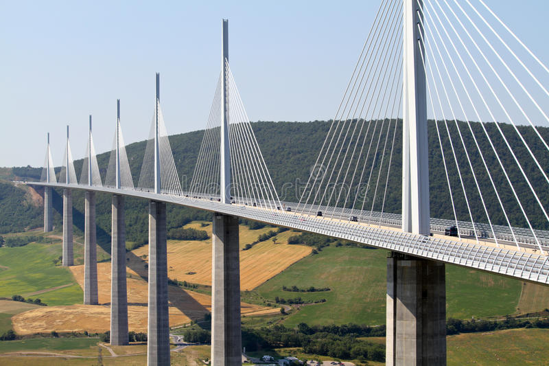 Ponte de Millau fotografia de stock
