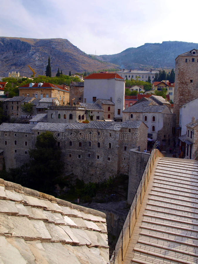Ponte de Mostar imagem de stock