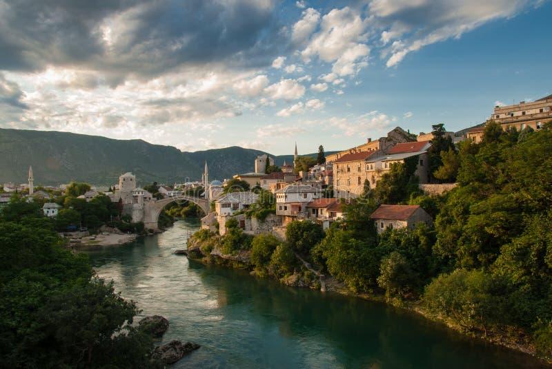 A ponte de Mostar imagens de stock royalty free