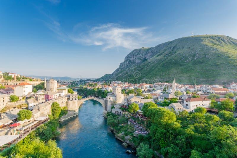 Ponte de Mostar em Bósnia foto de stock royalty free