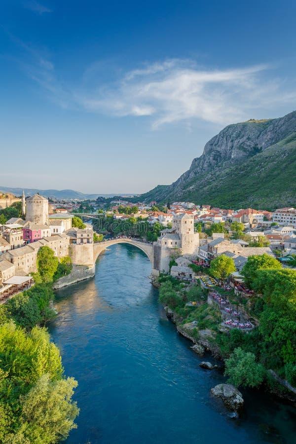 Ponte de Mostar em Bósnia foto de stock