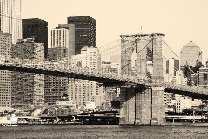 Ponte de New York City Brooklyn imagem de stock royalty free