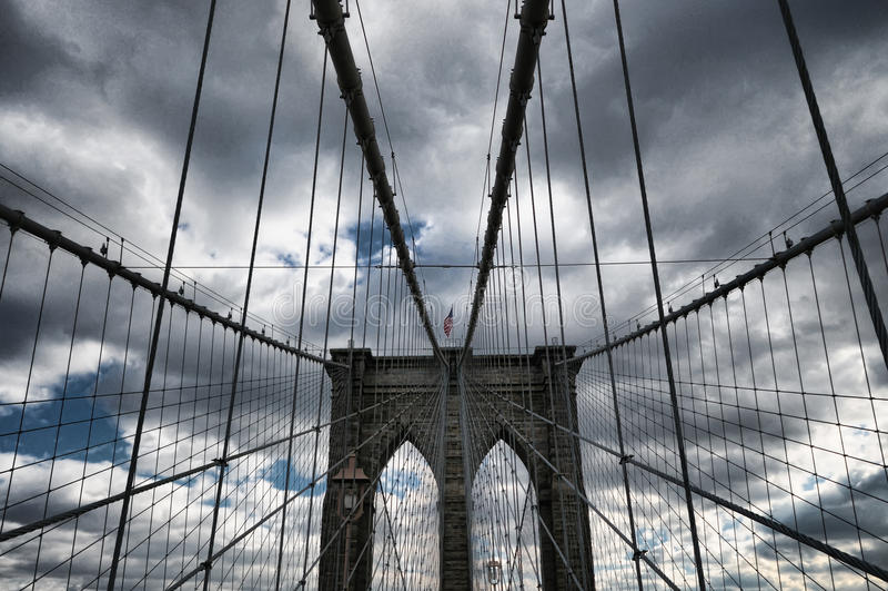 Ponte de New York City Brooklyn imagem de stock
