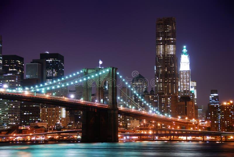 Ponte de New York City Manhattan Brooklyn imagem de stock royalty free
