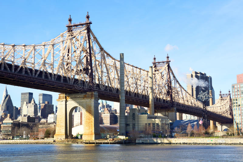 Ponte de New York City Queensboro imagens de stock