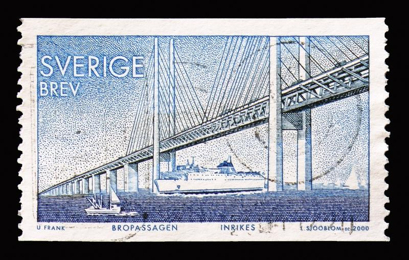 Ponte de Oresund, conclusão de uma relação fixa entre Dinamarca e S fotos de stock