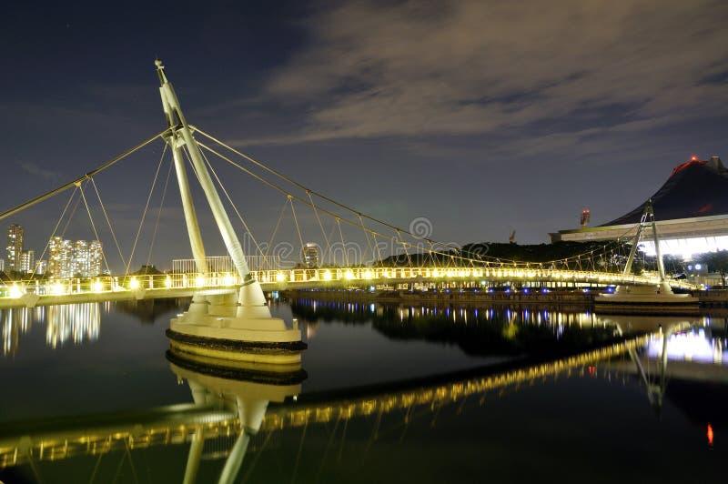 Ponte de pedestre, Singapore fotografia de stock