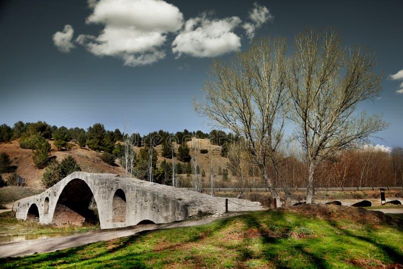 ponte de pedra da paisagem imagens de stock