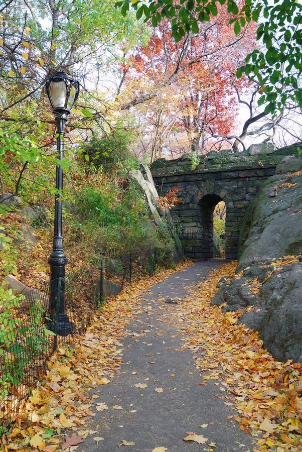Ponte de pedra de New York City Central Park foto de stock