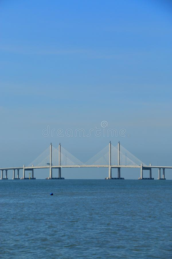 Ponte de Penang segundo foto de stock royalty free
