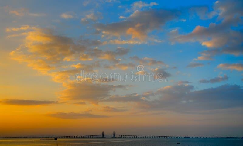Ponte de Penang - um novo amanhã imagem de stock