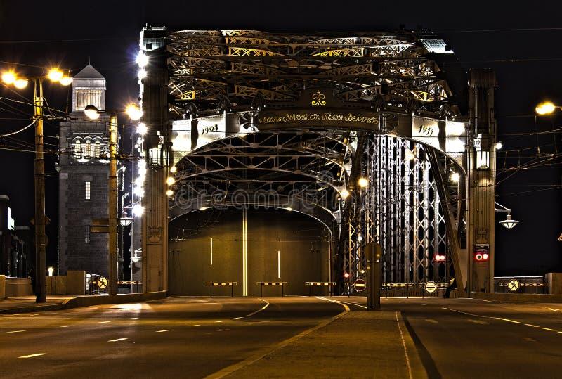Ponte de Peter o grande (Bolsheokhtinsky) fotos de stock royalty free
