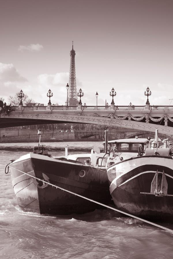 Ponte de Pont Alexandre III e a torre Eiffel fotos de stock royalty free