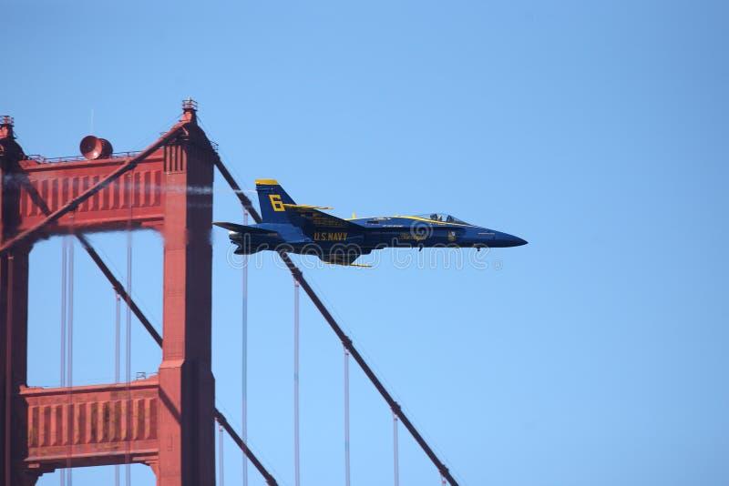 Ponte de porta dourada 2011 de San Francisco dos anjos azuis fotografia de stock