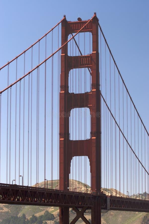 Ponte de porta dourada fotografia de stock
