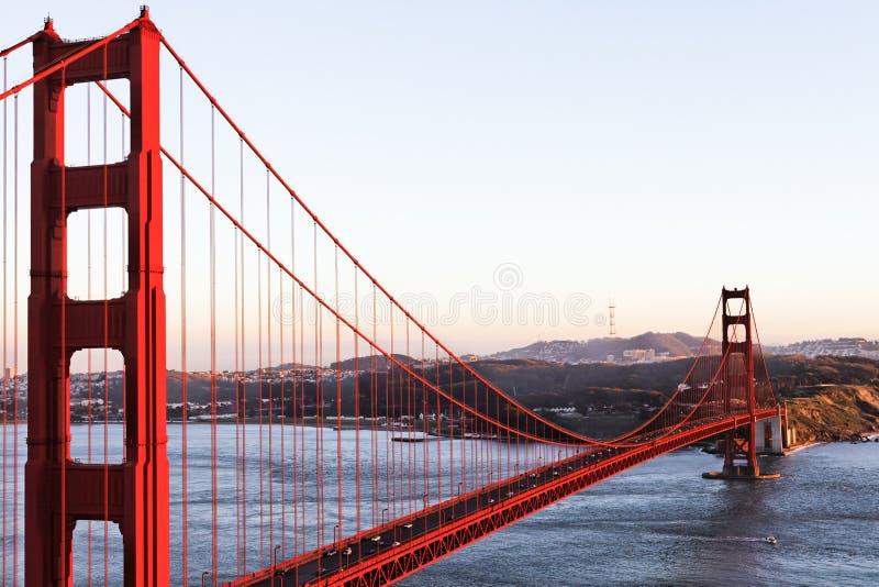 A ponte de porta dourada em San Francisco imagens de stock royalty free
