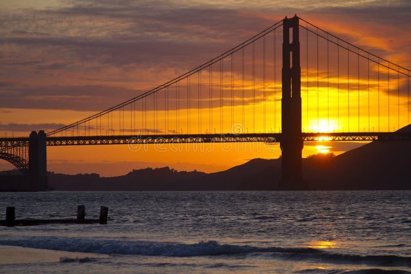 Ponte de porta dourada em San Francisco fotografia de stock