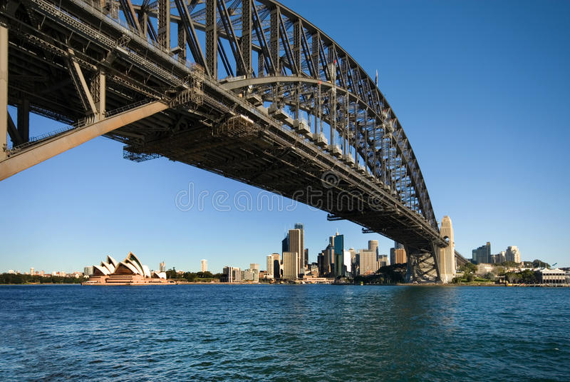 Ponte de porto de Sydney imagem de stock royalty free