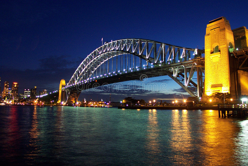 Ponte de porto de Sydney fotos de stock