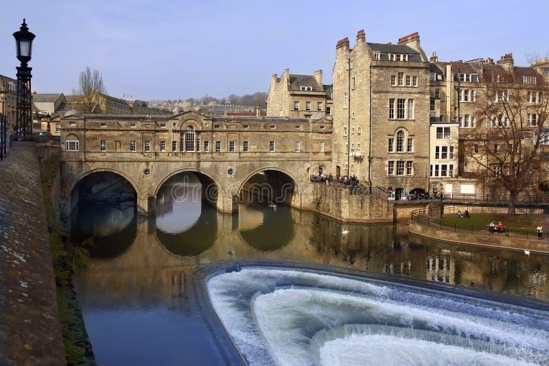 Ponte de Poultney - cidade do banho - Inglaterra foto de stock