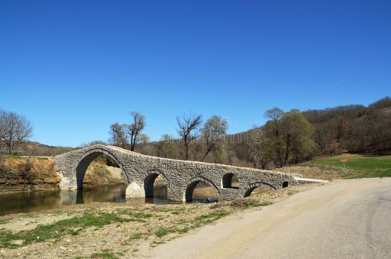 A ponte de Pramortsa em Kozani, Grécia fotos de stock