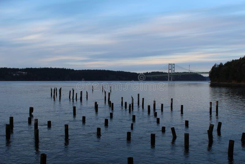 Ponte de Puget Sound imagens de stock royalty free