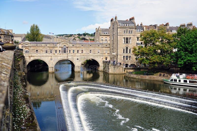 Ponte de Pulteney, banho, Somerset, Inglaterra, Reino Unido foto de stock