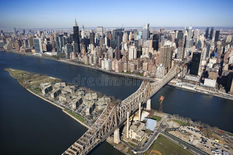 Ponte de Queensboro, NYC fotografia de stock