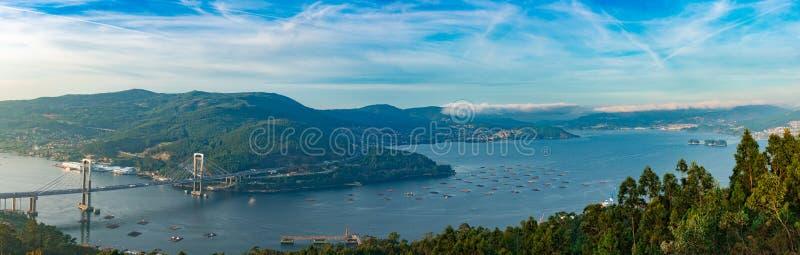 Ponte de Rande, Vigo, Galiza, Espanha fotos de stock royalty free