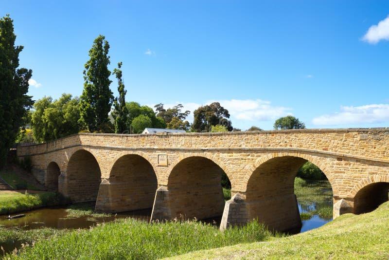 Ponte de Richmond, Tasmânia fotos de stock