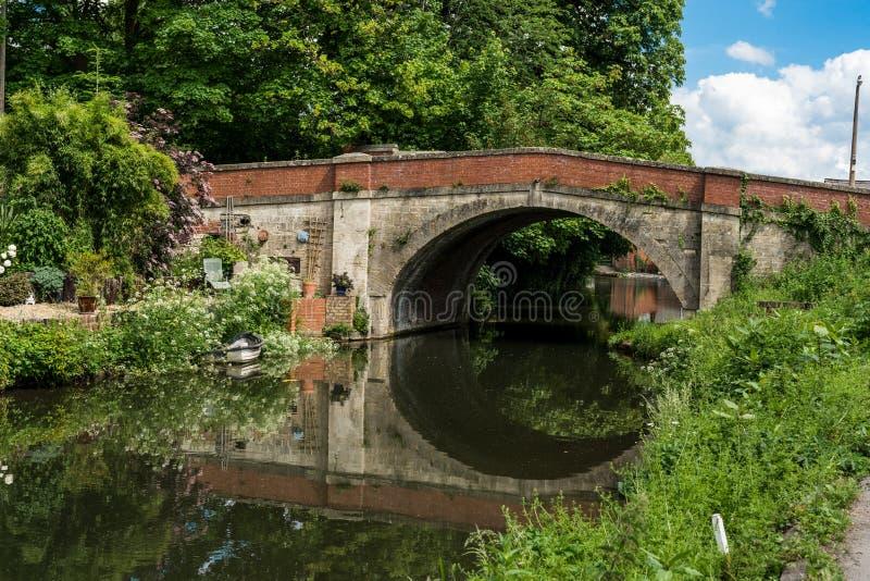 Ponte de Ryeford no canal de Stroudwater próximo a Stonehouse, Stroud, Gloucestershire, Reino Unido fotos de stock