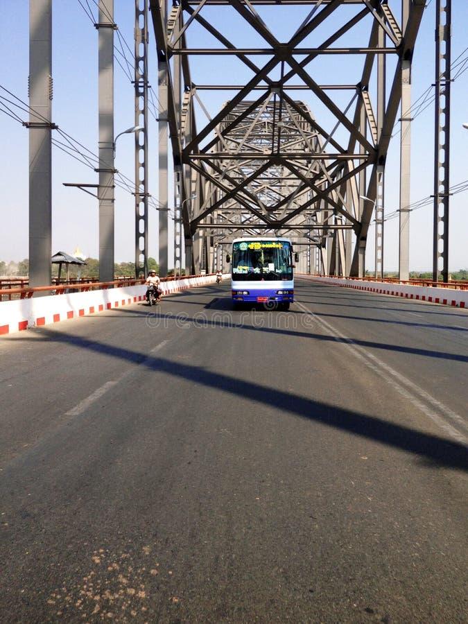 Ponte de Sagaing fotos de stock royalty free