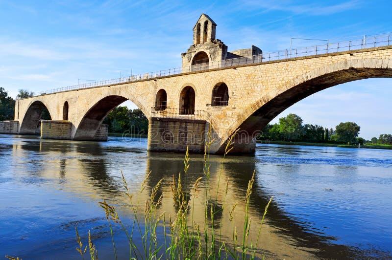Ponte de Saint-Benezet de Pont em Avignon, França fotografia de stock