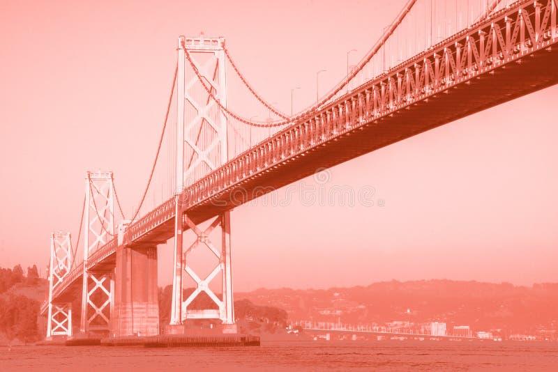 Ponte de San Francisco, efeito de Duotone Negro e Laranja imagem de stock royalty free